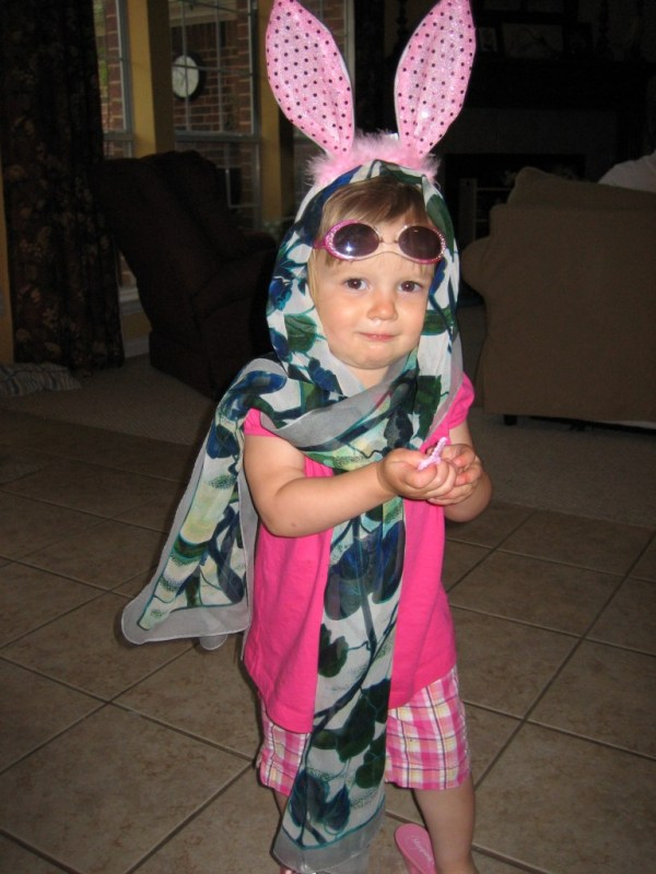 This girl definitely has her own style!  And it includes LOTS of pink!