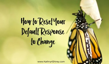 How to Reset Your Default Response to Change