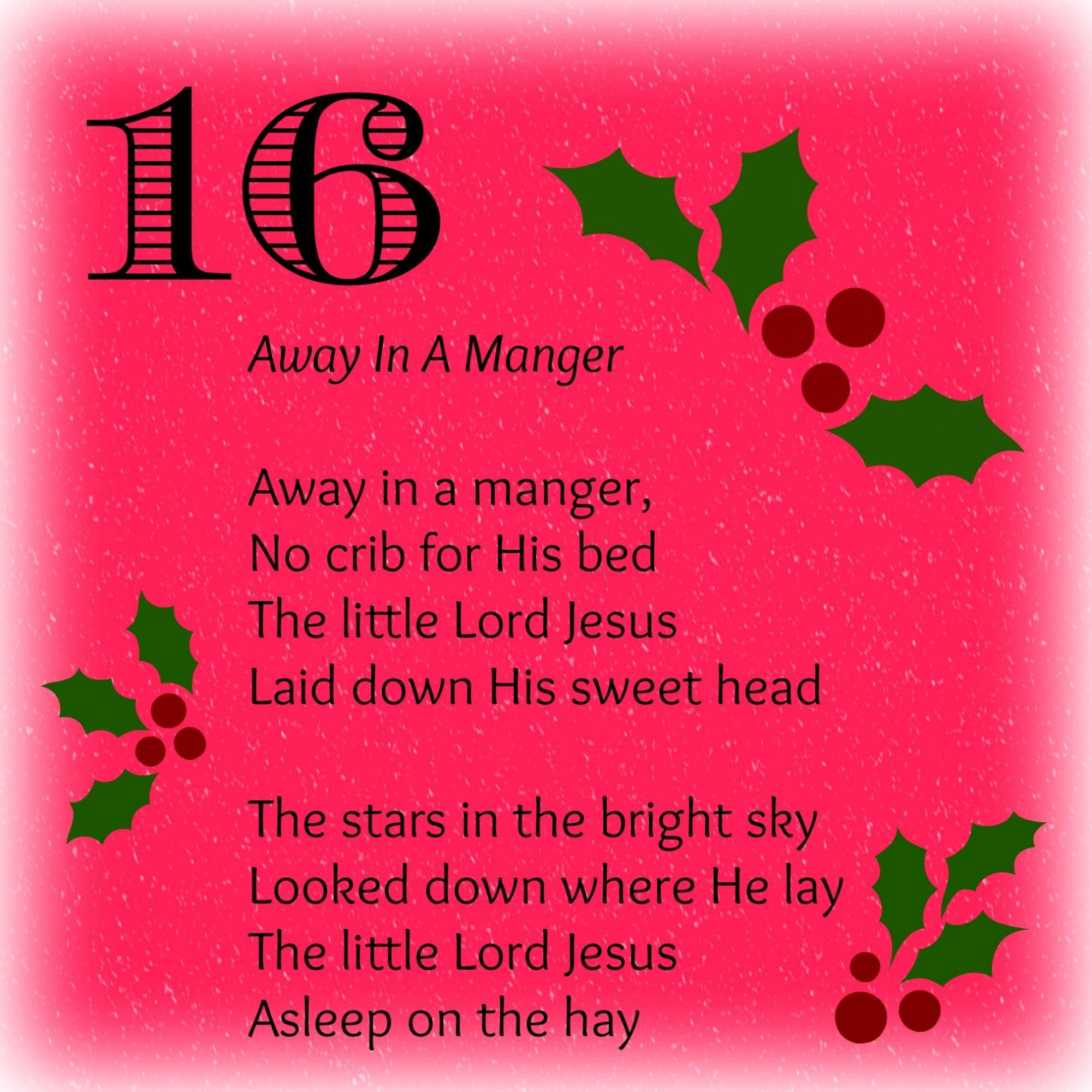 16-AwayInAManger