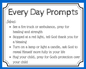 Every Day Prayer Prompt Ideas