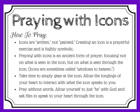 Praying with icons has been described as praying through a window to heaven. Icons are created through prayer and can enhance your prayer experience. Learn how you can pray with icons. (+ free printable prayer cards)