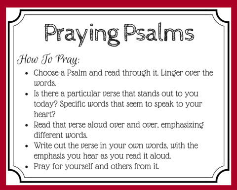 Do you use the Book of Psalms to pray? Praying Psalms can be a powerful way to pray God's words back to Him. Try this method to explore God's prayer book. (+ free printable prayer cards)