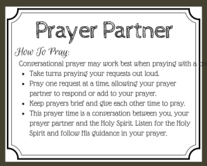Praying with a Prayer Partner