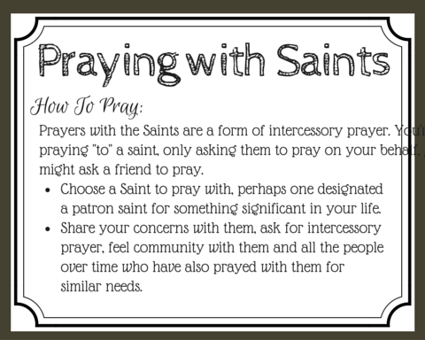 Have you ever considering praying with the saints? They're not good luck charms, but can be our spiritual guides, encouragers, comforters, and intercessors. Learn how to pray with the saints. (+ free printable prayer cards)