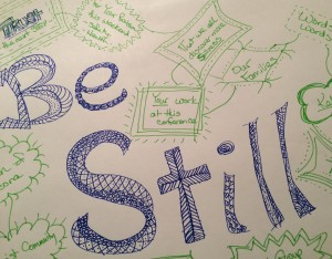 Prayer Doodle-Be Still