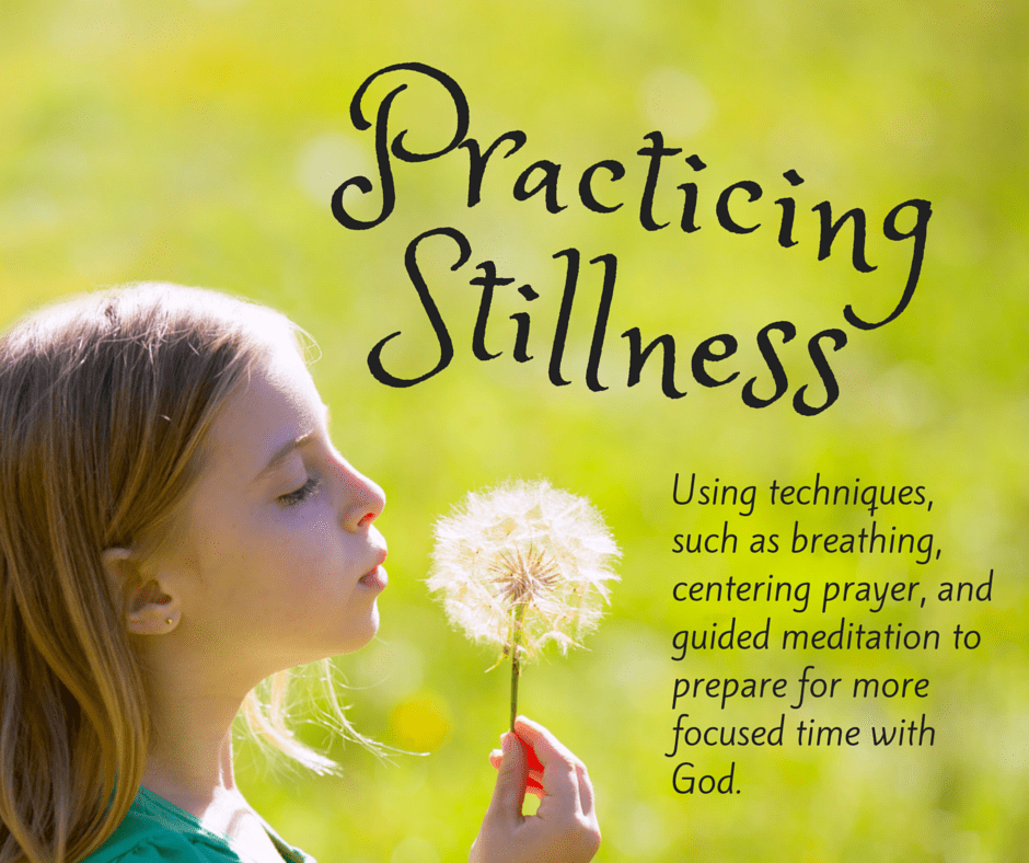 Finding stillness with God and deeper focus in prayer requires practice and preparation. Try using breathing, centering prayer or guided meditation to help. Learn how to use centering prayer and breathing exercises to begin your prayer time. (+ free printable prayer cards)