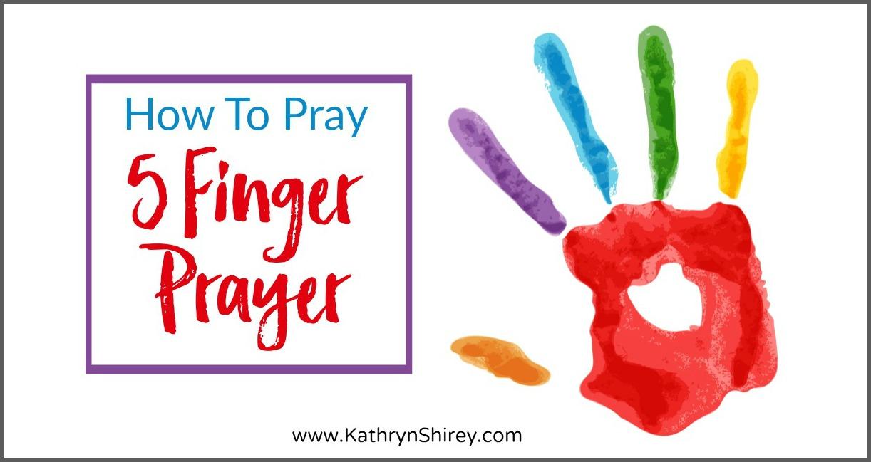 image regarding Prayer List Printable named 5 Finger Prayer Prayer Alternatives