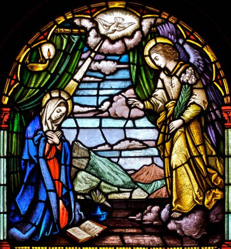 Stained glass windows can be used in prayer