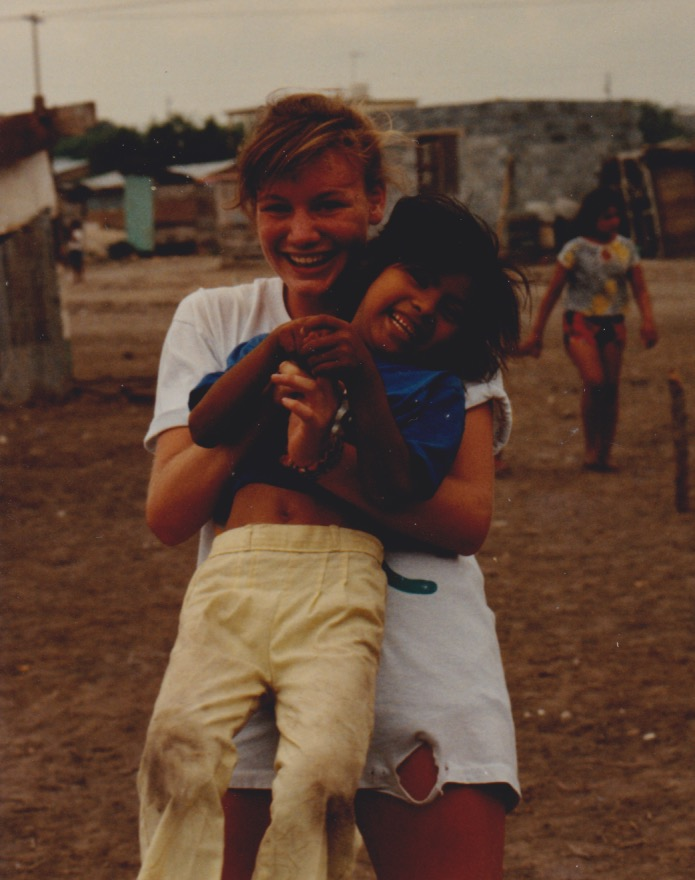 Me and my favorite friend in the colonias, a little girl who just wanted to smile and play.