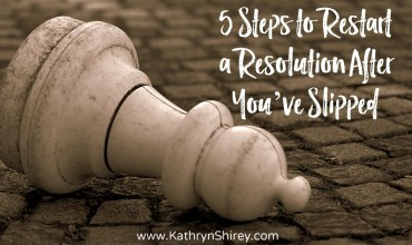 5 Steps to Restart a Resolution After You've Slipped