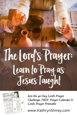 Are you praying the Lord's Prayer as Jesus taught or simply reciting it? Join the 40 day Lord's Prayer challenge and learn to pray it for real impact. Pray it slowly, line-by-line, word-by-word over 40 days. Let the Lord's Prayer become your template for prayer and transform your prayer life.