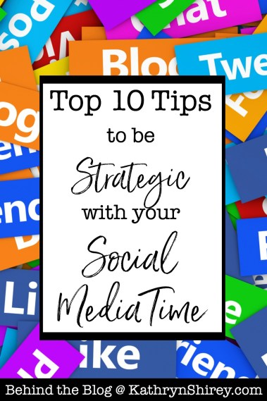 As a blogger, social media can be a huge time drain. These 10 tips will help you be more strategic with your time so you can focus more on writing and creating (the fun stuff!).