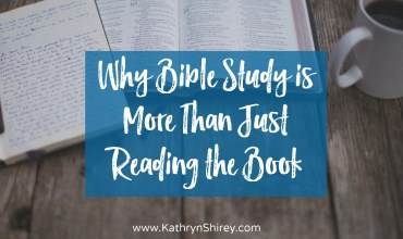 Why Bible Study is More Than Just Reading the Book