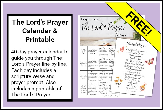 The Lord's Prayer Calendar and Printable