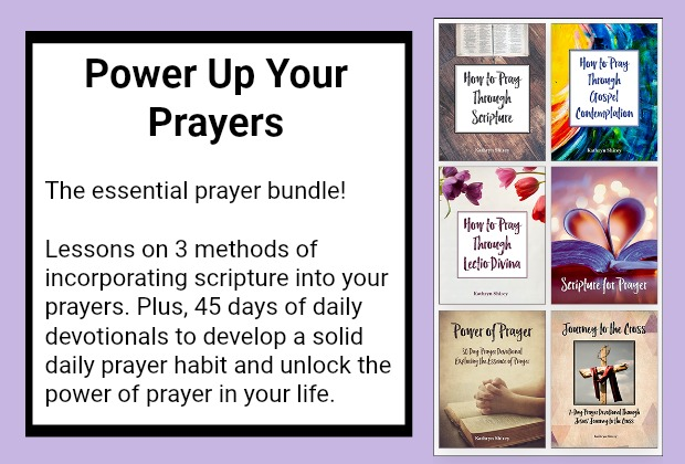 Are you ready to Power Up Your Prayers? Learn how to pray scripture, pray through lectio divina and pray through Gospel contemplation. The course also includes a 30 day prayer devotional diving into the essence and power of prayer, plus a 7 day prayer devotional following Jesus' journey to the cross.