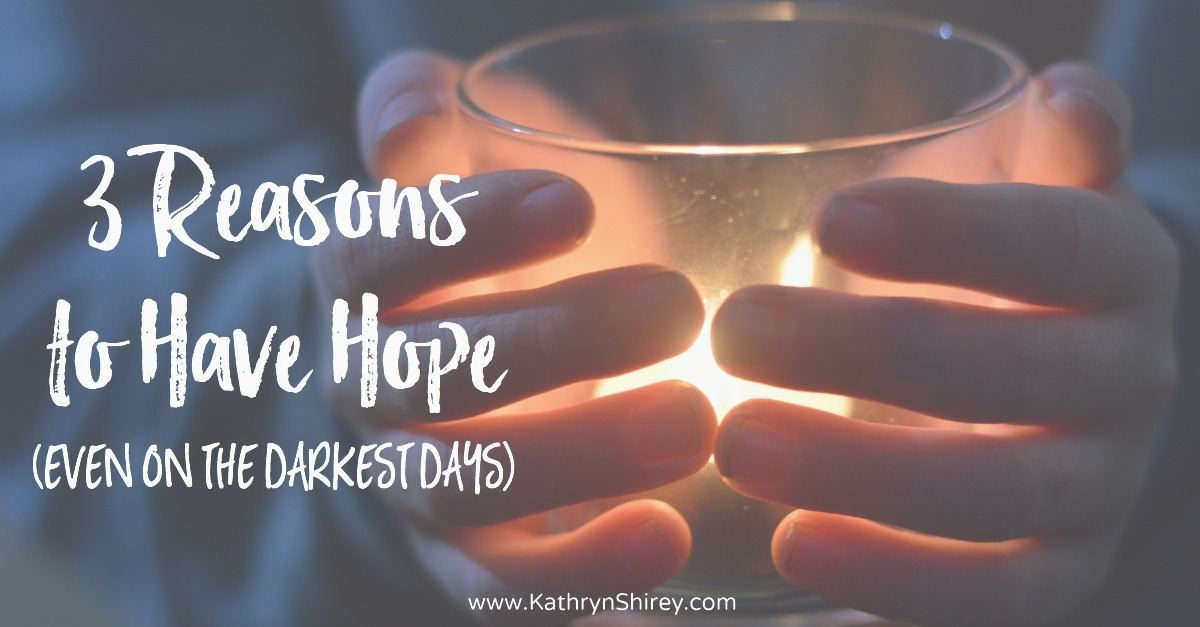 Does hope seem out-of-reach, the days too dark? Find 3 reasons to have hope (even on the darkest days) in the story of Mary's encounter with the angel Gabriel.
