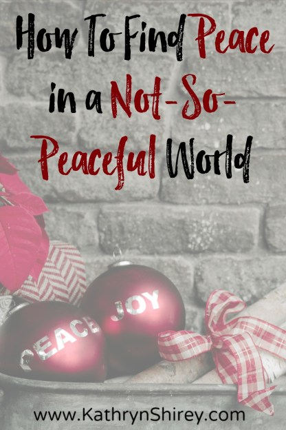"The angels proclaimed ""peace on earth"" at Jesus' birth, but how do you find peace in this not-so-peaceful world? Even in the hurt and chaos of this world, you can find the peace the angels promised through Jesus."
