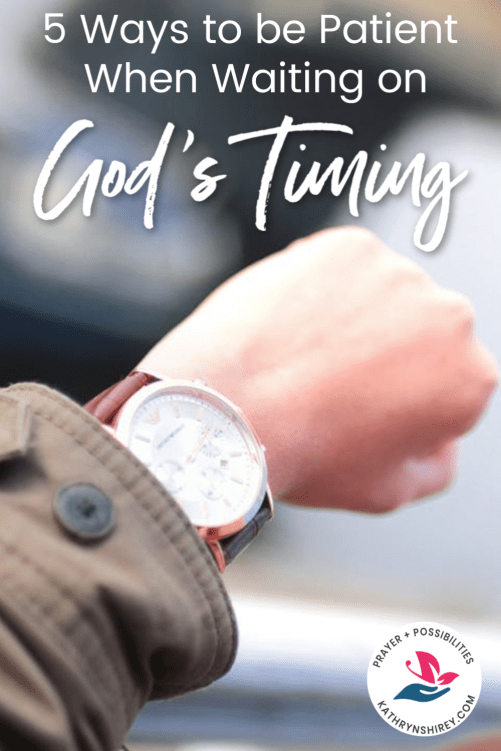 Are you in a season of waiting? It's hard to wait on God and trust God's plans. Lean into these 5 ways to have patience waiting on God's timing in your life.