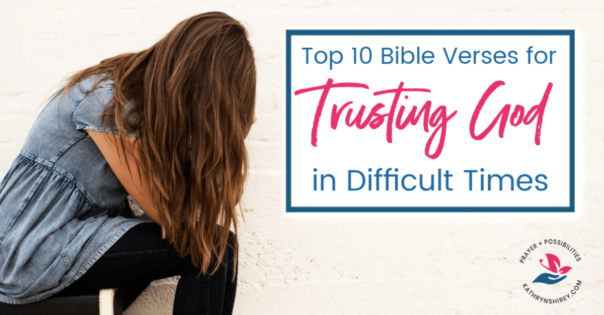 Where do you turn when life gets hard? Make scripture and prayer your go-to with these 10 reasons for trusting God in difficult times. Turn to God first in hard times, trusting God to carry you through the fire. Get the free printable scripture and prayer cards, plus prayer journal pages.