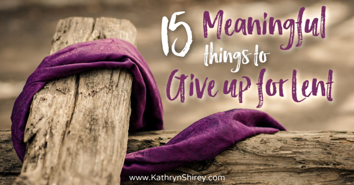 Not sure what to give up for Lent? Try one of these 15 meaningful things to give up for Lent. Make this a season of spiritual growth, not just giving up chocolate. (+free printable idea list)