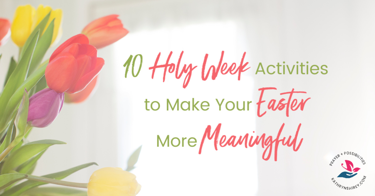Are you stepping into the depth of Holy Week, or skipping straight from Palm Sunday to Easter? Try adding at least one of these Holy Week activity ideas this year. Experiencing the full emotion of the week will make your Easter more joyful and meaningful.