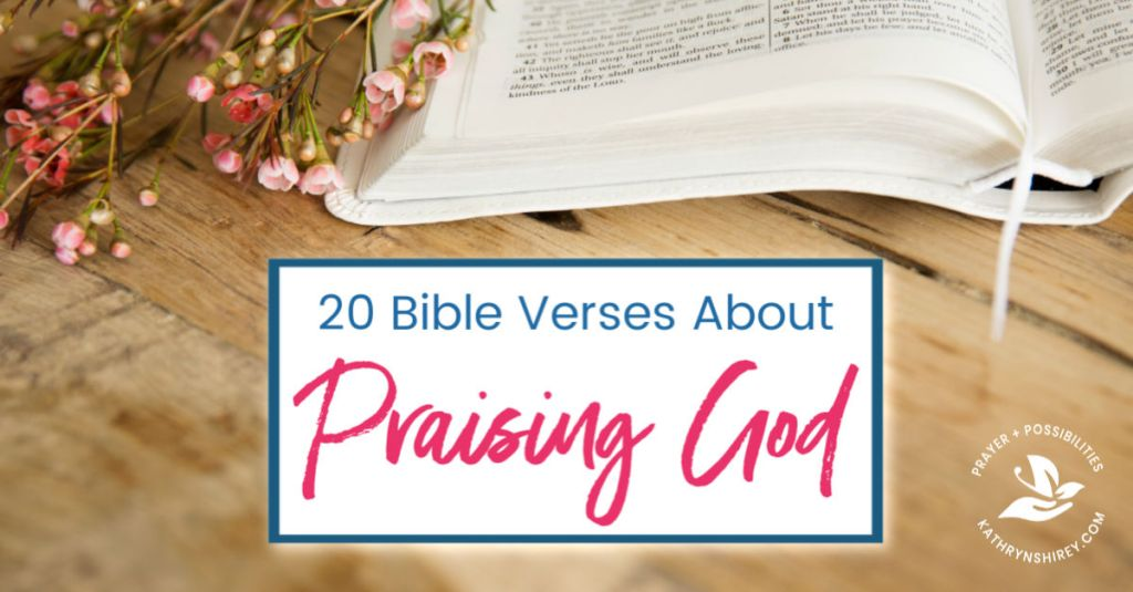 20 Bible verses about praising God in hard times. Use these verses to pray through Scripture when life's hard. Hold fast to God and praise him in the storm.