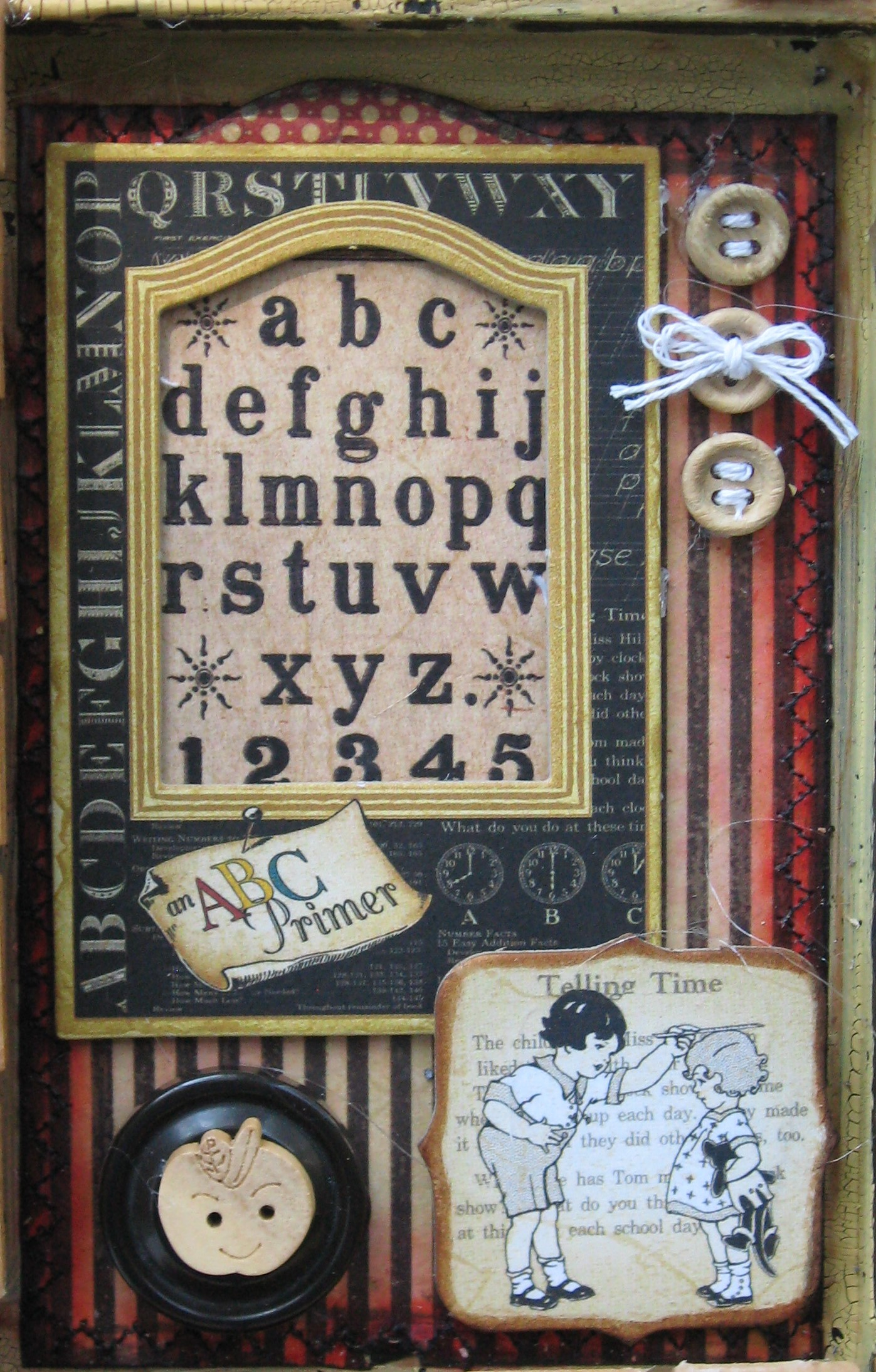 ABC Primer Altered Printer's Tray - Kathy by Design