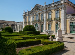This is the palace in Lisbon where the event was held.  It is called Queluz