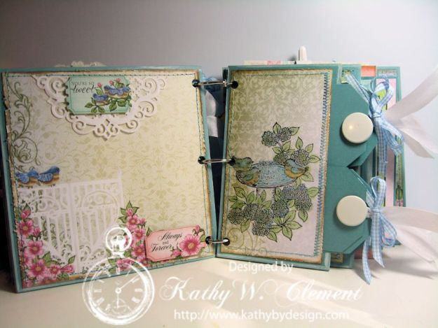 Kathy by Design Birds and Blooms Mini Album Tutorial