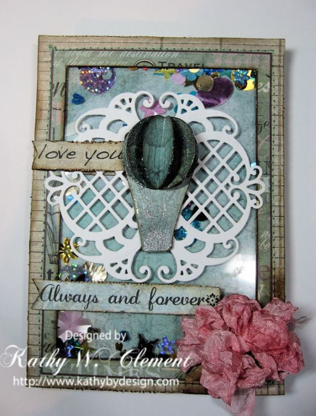 Kathy by Design Valentine Shaker Card tutorial for Heartfelt Creations