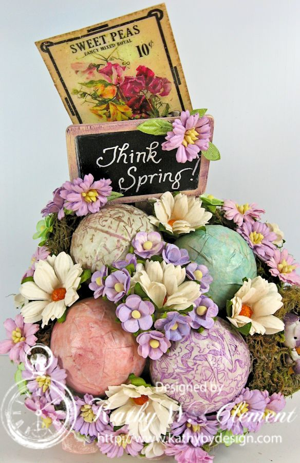 Think Spring Easter Basket/Kathy by Design