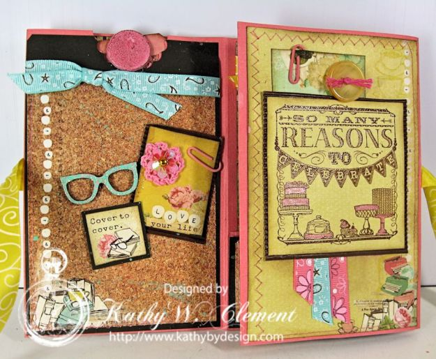RRR Blog Hop March 2015 04Kathy by Design/Coffee Break Birthday Mini Album for Really Reasonable Ribbon