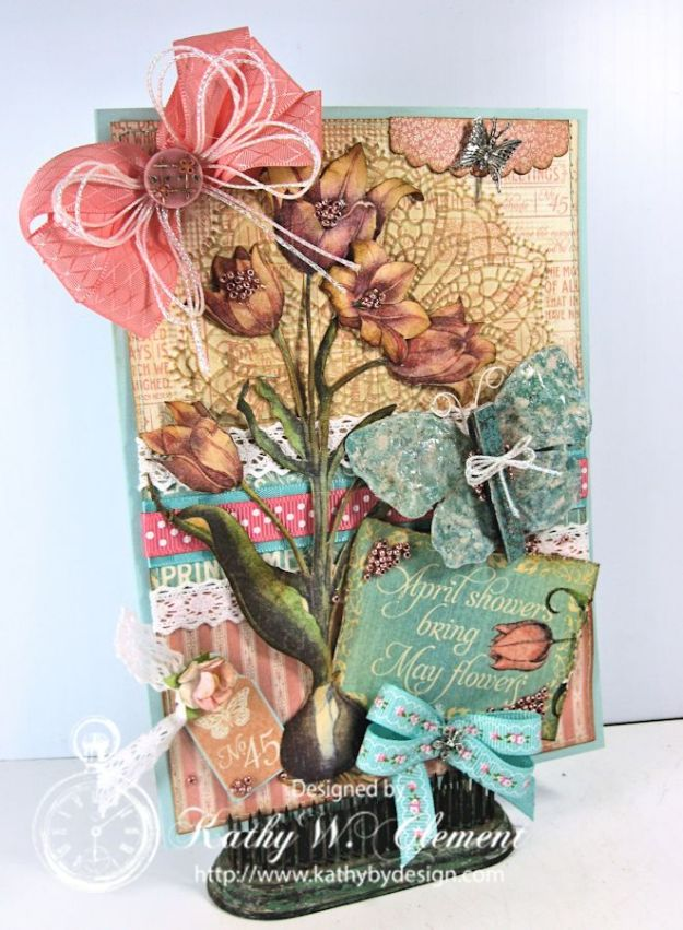 Graphic 45 April Time to Flourish/Kathy by Design for Really Reasonable Ribbon
