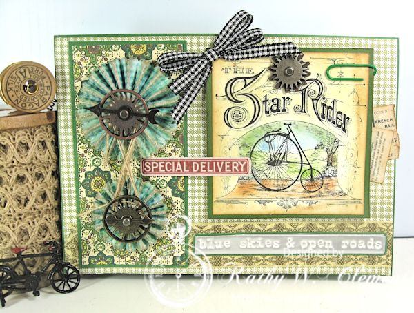 Crafty Secrets April 2015 bicycle card