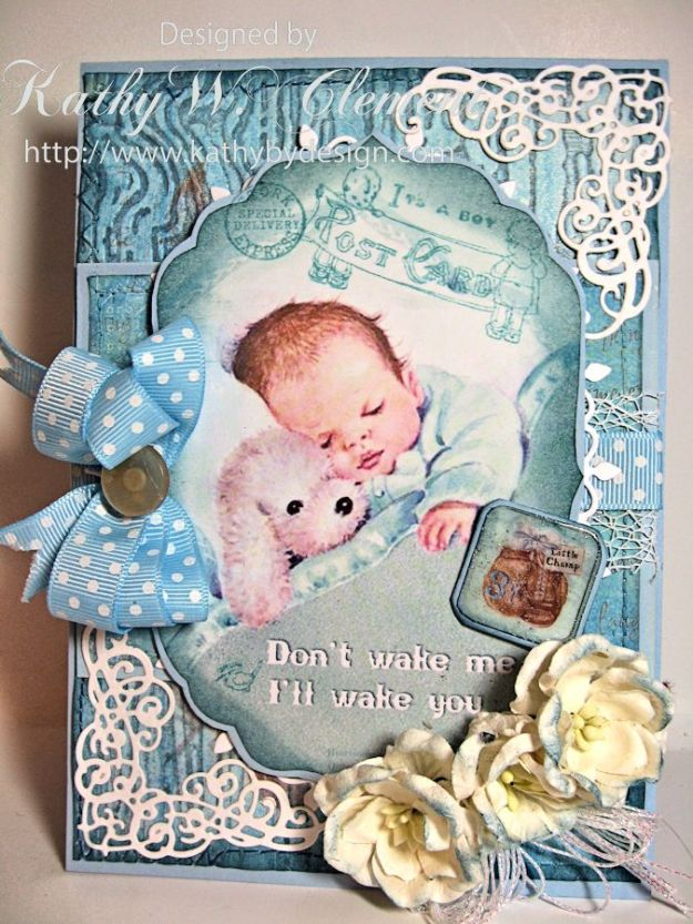 Crafty Secrets Baby Boy Card 02