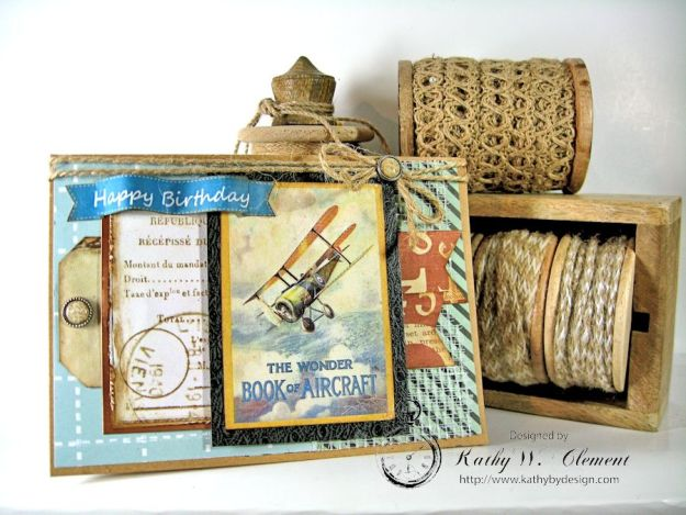 Airplane Card Masculine Creative Kit