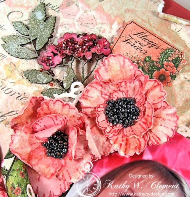 Blazing Poppies Mixed Media Layout 06