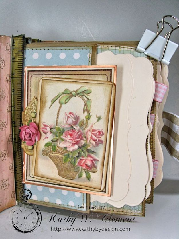 Everythings Coming Up Roses Mini Album Kathy Clement 07