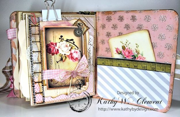 Everythings Coming Up Roses Mini Album Kathy Clement 12
