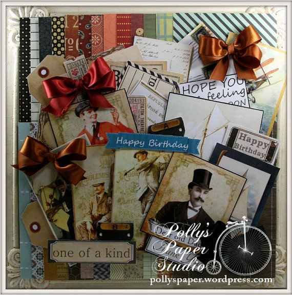 Masculine Variety Card Creativity Kit Polly's Paper Etsy