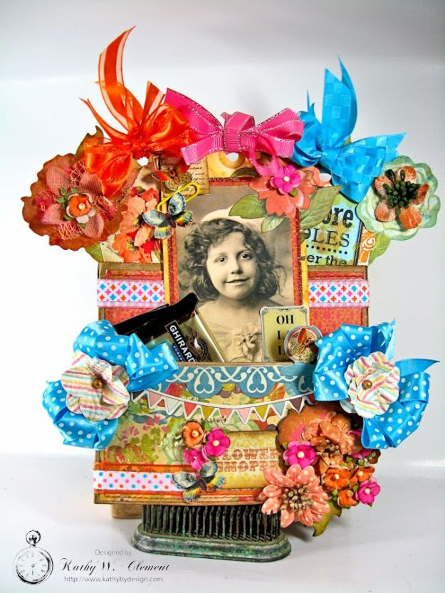 Kathy by Design/Paper Bag Gift Pocket Tutorial