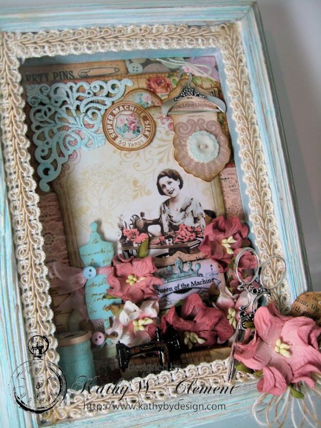 Sew Decorative Altered Frame 02