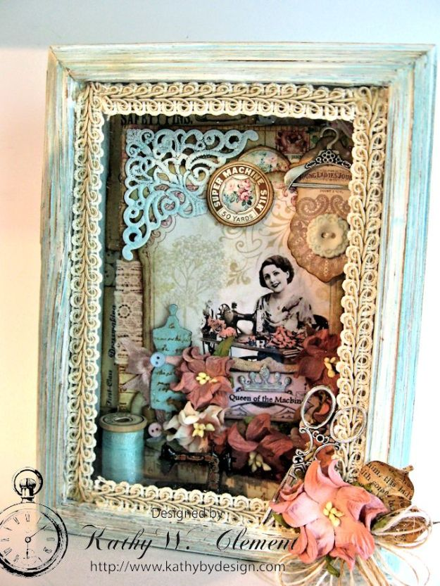 Sew Decorative Altered Frame 04