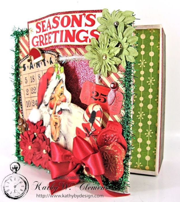 Kathy by Design/Retro Christmas Altered Art box
