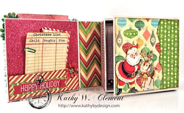 Pollys Paper Christmas Creativity Kit altered art box 03