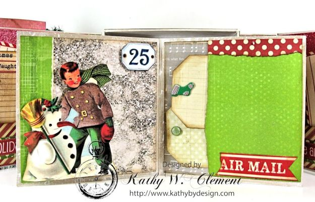 Pollys Paper Christmas Creativity Kit altered art box 07