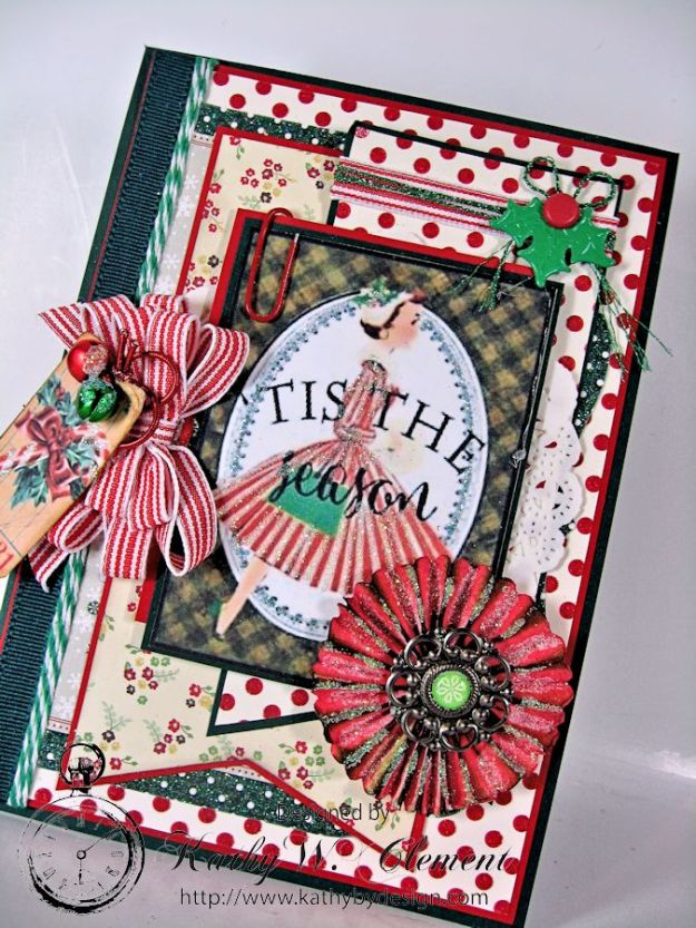 Pollys Paper Christmas Ladies Rosette 03