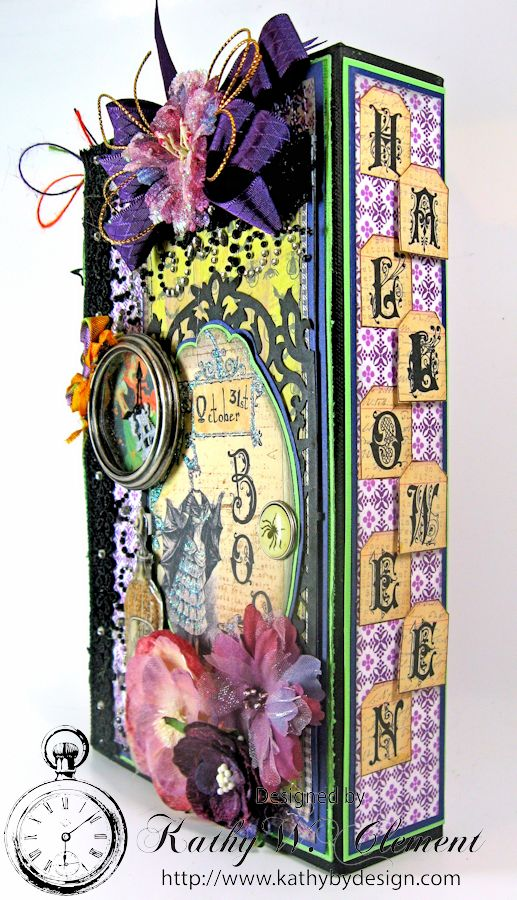 Boo-tiful Bookcase Style Halloween Mini Album