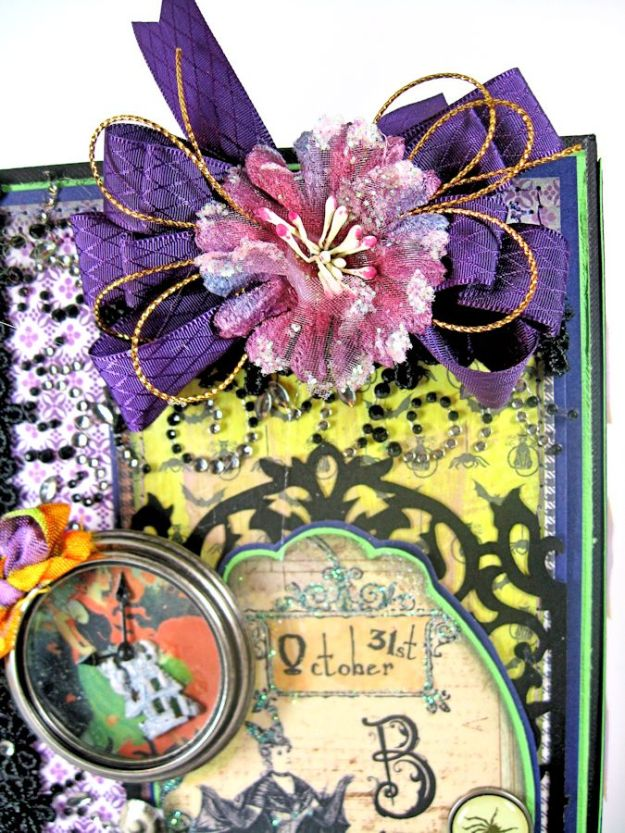 Crafty Secrets Purple and Green Halloween Album05