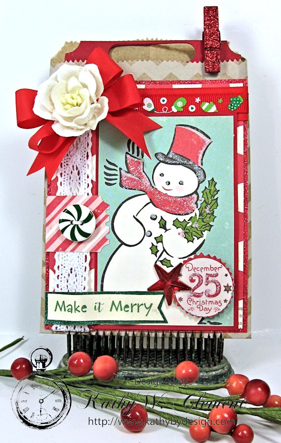 Kathy by Design/Christmas Gift Card Tags in Bags 01